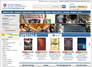 Screenshot of the IWS Online Bookstore