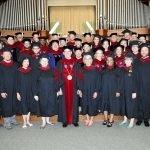 2016 Graduates with Pres. Hart